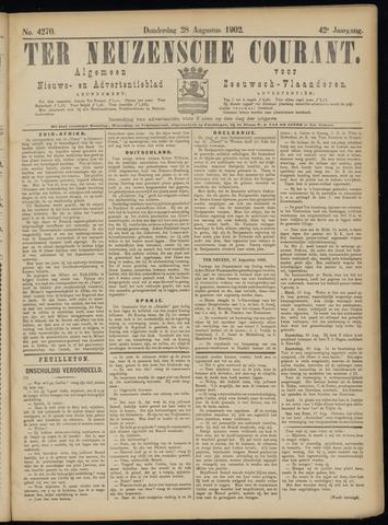 Ter Neuzensche Courant. Algemeen Nieuws- en Advertentieblad voor Zeeuwsch-Vlaanderen / Neuzensche Courant ... (idem) / (Algemeen) nieuws en advertentieblad voor Zeeuwsch-Vlaanderen 1902-08-28