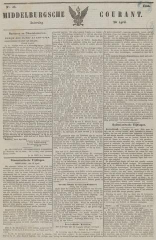 Middelburgsche Courant 1850-04-20