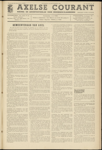 Axelsche Courant 1961-09-30