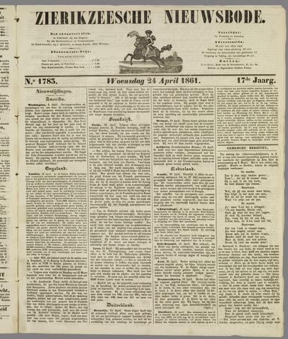 Zierikzeesche Nieuwsbode 1861-04-24