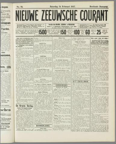 Nieuwe Zeeuwsche Courant 1917-02-24