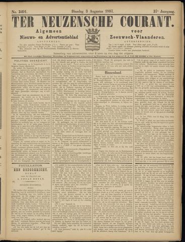 Ter Neuzensche Courant. Algemeen Nieuws- en Advertentieblad voor Zeeuwsch-Vlaanderen / Neuzensche Courant ... (idem) / (Algemeen) nieuws en advertentieblad voor Zeeuwsch-Vlaanderen 1897-08-03