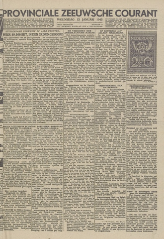 Provinciale Zeeuwse Courant 1943-01-13