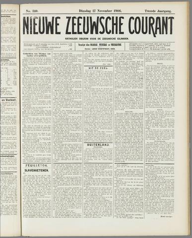 Nieuwe Zeeuwsche Courant 1906-11-27