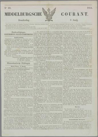 Middelburgsche Courant 1854-06-08