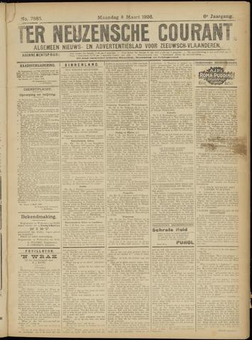 Ter Neuzensche Courant. Algemeen Nieuws- en Advertentieblad voor Zeeuwsch-Vlaanderen / Neuzensche Courant ... (idem) / (Algemeen) nieuws en advertentieblad voor Zeeuwsch-Vlaanderen 1926-03-08