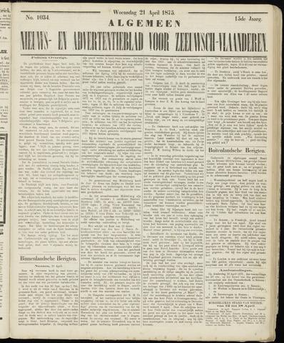 Ter Neuzensche Courant. Algemeen Nieuws- en Advertentieblad voor Zeeuwsch-Vlaanderen / Neuzensche Courant ... (idem) / (Algemeen) nieuws en advertentieblad voor Zeeuwsch-Vlaanderen 1875-04-21