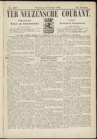 Ter Neuzensche Courant. Algemeen Nieuws- en Advertentieblad voor Zeeuwsch-Vlaanderen / Neuzensche Courant ... (idem) / (Algemeen) nieuws en advertentieblad voor Zeeuwsch-Vlaanderen 1878-02-06