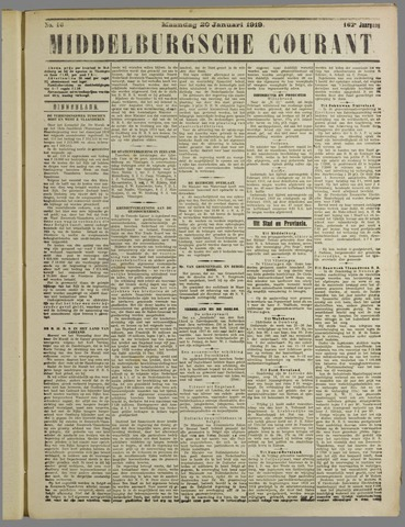 Middelburgsche Courant 1919-01-20