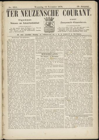 Ter Neuzensche Courant. Algemeen Nieuws- en Advertentieblad voor Zeeuwsch-Vlaanderen / Neuzensche Courant ... (idem) / (Algemeen) nieuws en advertentieblad voor Zeeuwsch-Vlaanderen 1879-11-12
