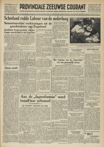 Provinciale Zeeuwse Courant 1950-02-25
