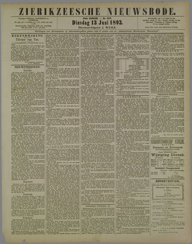 Zierikzeesche Nieuwsbode 1893-06-13