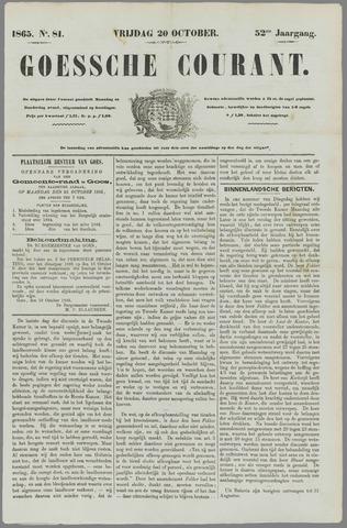 Goessche Courant 1865-10-20
