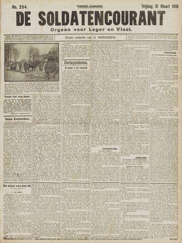 De Soldatencourant. Orgaan voor Leger en Vloot 1916-03-31