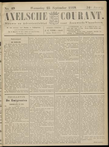 Axelsche Courant 1918-09-25