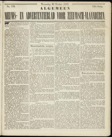 Ter Neuzensche Courant. Algemeen Nieuws- en Advertentieblad voor Zeeuwsch-Vlaanderen / Neuzensche Courant ... (idem) / (Algemeen) nieuws en advertentieblad voor Zeeuwsch-Vlaanderen 1872-10-30