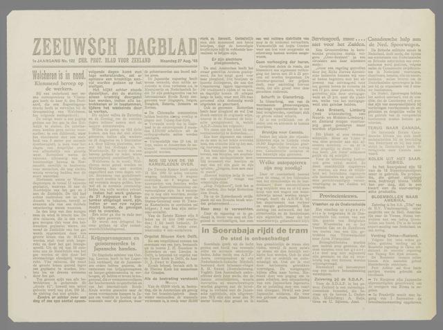 Zeeuwsch Dagblad 1945-08-27