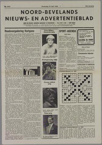 Noord-Bevelands Nieuws- en advertentieblad 1985-04-25