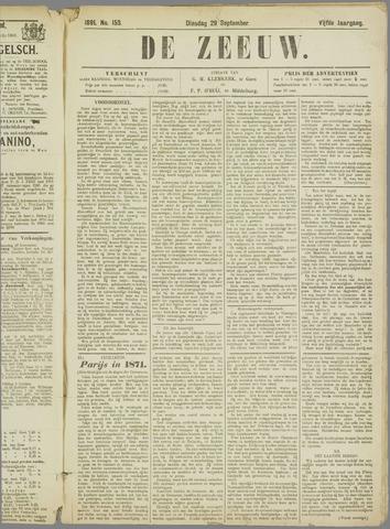 De Zeeuw. Christelijk-historisch nieuwsblad voor Zeeland 1891-09-29