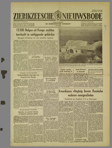 Zierikzeesche Nieuwsbode 1960-07-12
