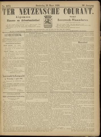 Ter Neuzensche Courant. Algemeen Nieuws- en Advertentieblad voor Zeeuwsch-Vlaanderen / Neuzensche Courant ... (idem) / (Algemeen) nieuws en advertentieblad voor Zeeuwsch-Vlaanderen 1896-03-26