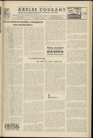 Axelsche Courant 1954-07-07