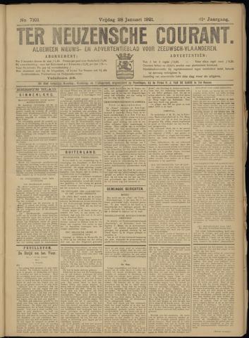 Ter Neuzensche Courant. Algemeen Nieuws- en Advertentieblad voor Zeeuwsch-Vlaanderen / Neuzensche Courant ... (idem) / (Algemeen) nieuws en advertentieblad voor Zeeuwsch-Vlaanderen 1921-01-28