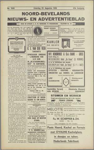 Noord-Bevelands Nieuws- en advertentieblad 1936-08-29