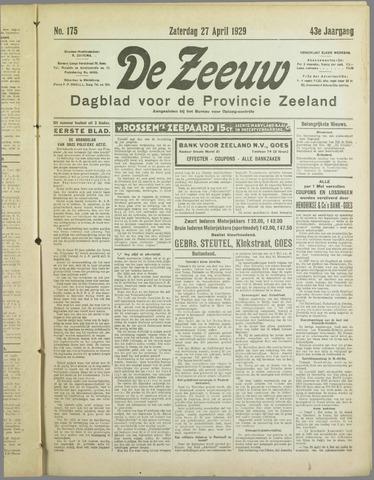 De Zeeuw. Christelijk-historisch nieuwsblad voor Zeeland 1929-04-27