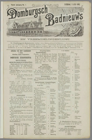 Domburgsch Badnieuws 1892