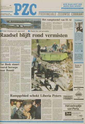 Provinciale Zeeuwse Courant 1992-10-07