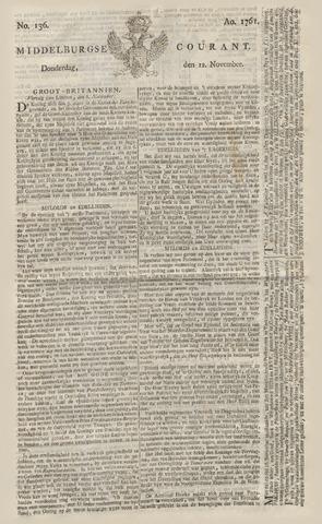 Middelburgsche Courant 1761-11-12