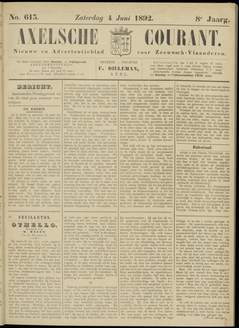Axelsche Courant 1892-06-04