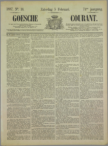 Goessche Courant 1887-02-05