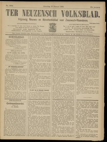 Ter Neuzensch Volksblad. Vrijzinnig nieuws- en advertentieblad voor Zeeuwsch- Vlaanderen / Zeeuwsch Nieuwsblad. Nieuws- en advertentieblad voor Zeeland 1912-01-13