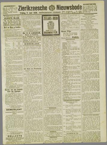 Zierikzeesche Nieuwsbode 1926-06-11