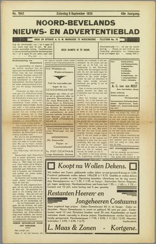 Noord-Bevelands Nieuws- en advertentieblad 1933-09-09
