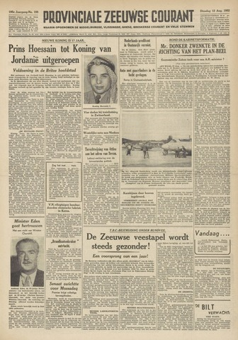 Provinciale Zeeuwse Courant 1952-08-12