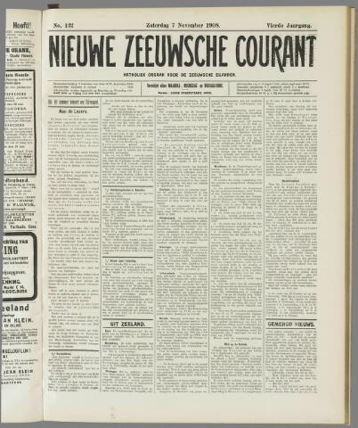 Nieuwe Zeeuwsche Courant 1908-11-07