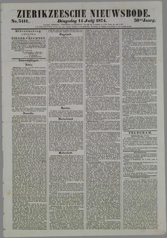 Zierikzeesche Nieuwsbode 1874-07-14