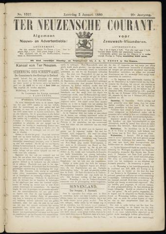 Ter Neuzensche Courant. Algemeen Nieuws- en Advertentieblad voor Zeeuwsch-Vlaanderen / Neuzensche Courant ... (idem) / (Algemeen) nieuws en advertentieblad voor Zeeuwsch-Vlaanderen 1880-01-03