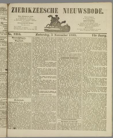 Zierikzeesche Nieuwsbode 1855-11-03