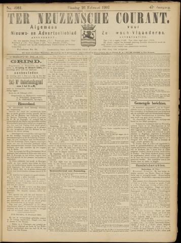 Ter Neuzensche Courant. Algemeen Nieuws- en Advertentieblad voor Zeeuwsch-Vlaanderen / Neuzensche Courant ... (idem) / (Algemeen) nieuws en advertentieblad voor Zeeuwsch-Vlaanderen 1907-02-26