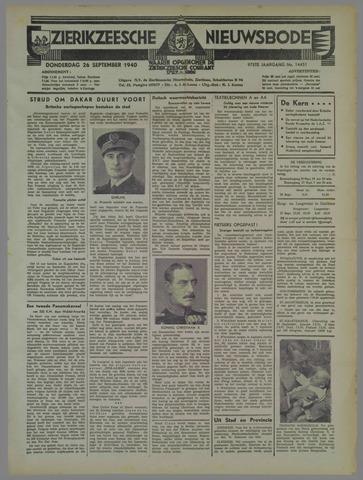 Zierikzeesche Nieuwsbode 1940-09-26