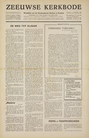 Zeeuwsche kerkbode, weekblad gewijd aan de belangen der gereformeerde kerken/ Zeeuwsch kerkblad 1956-10-05