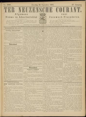 Ter Neuzensche Courant. Algemeen Nieuws- en Advertentieblad voor Zeeuwsch-Vlaanderen / Neuzensche Courant ... (idem) / (Algemeen) nieuws en advertentieblad voor Zeeuwsch-Vlaanderen 1907-09-21