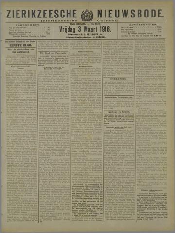 Zierikzeesche Nieuwsbode 1916-03-03
