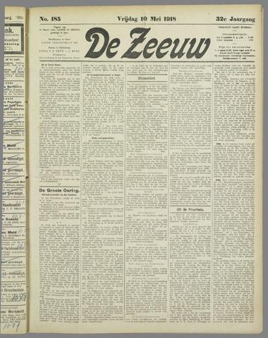 De Zeeuw. Christelijk-historisch nieuwsblad voor Zeeland 1918-05-10