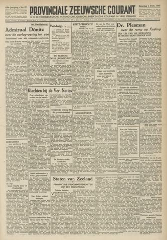 Provinciale Zeeuwse Courant 1947-02-01