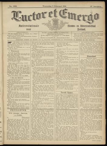 Luctor et Emergo. Antirevolutionair nieuws- en advertentieblad voor Zeeland / Zeeuwsch-Vlaanderen. Orgaan ter verspreiding van de christelijke beginselen in Zeeuwsch-Vlaanderen 1916-02-09